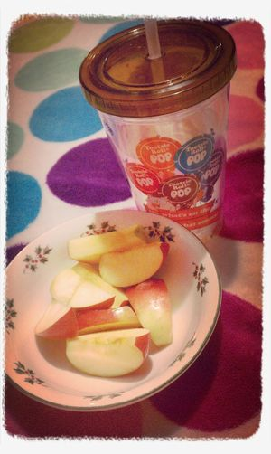 Weightloss Journey Healthysnacking Water Apple Slices