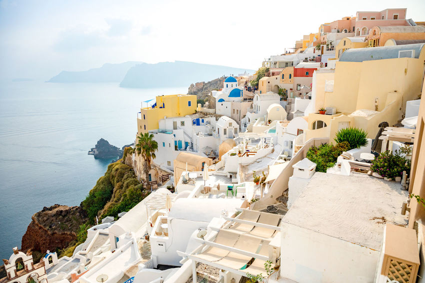 Greece Santorini Island Architecture Building Exterior Built Structure Sea Water City Building High Angle View Nature Sky Residential District Day Town No People Outdoors Travel Destinations Mountain TOWNSCAPE