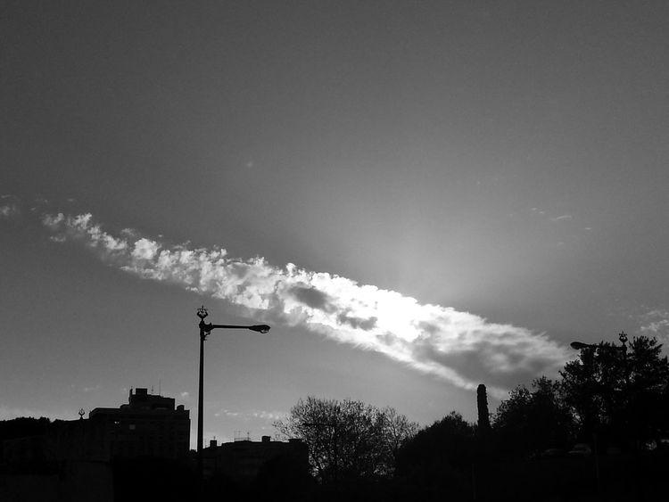 Monochrome Black And White Clouds Lisbon