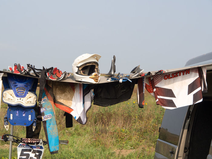 View Of Protective Sportswear For Motocross