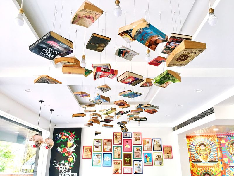 EyeEm Selects Multi Colored Variation Indoors  Paper Day No People Books India Manipal IPhoneography Ceiling Hanging Chandelier Mix Yourself A Good Time