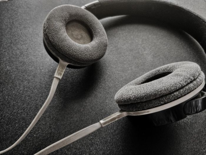 Black Dark Contrast Headphones On  White Point Of View Bold Lines Depth Perception Blackandwhite Photography Music Blackandwhite Comtrast Fuzzy Technology Communication Close-up Headphones Audio Electronics Audio Equipment Listening Music Record Sound Recording Equipment Musical Equipment Analogue Sound The Minimalist - 2019 EyeEm Awards