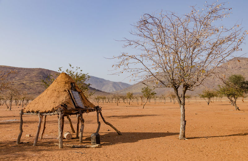 A Storage room in a Himba Village in the Kunene Region of Namibia Namibia Himba Storage Room Himba Village Traditional Kunene Region Scenics - Nature Landscape Environment Tranquil Scene No People Tranquility Desert Arid Climate Outdoors Southern Africa Destination Travel Vacations Holidays