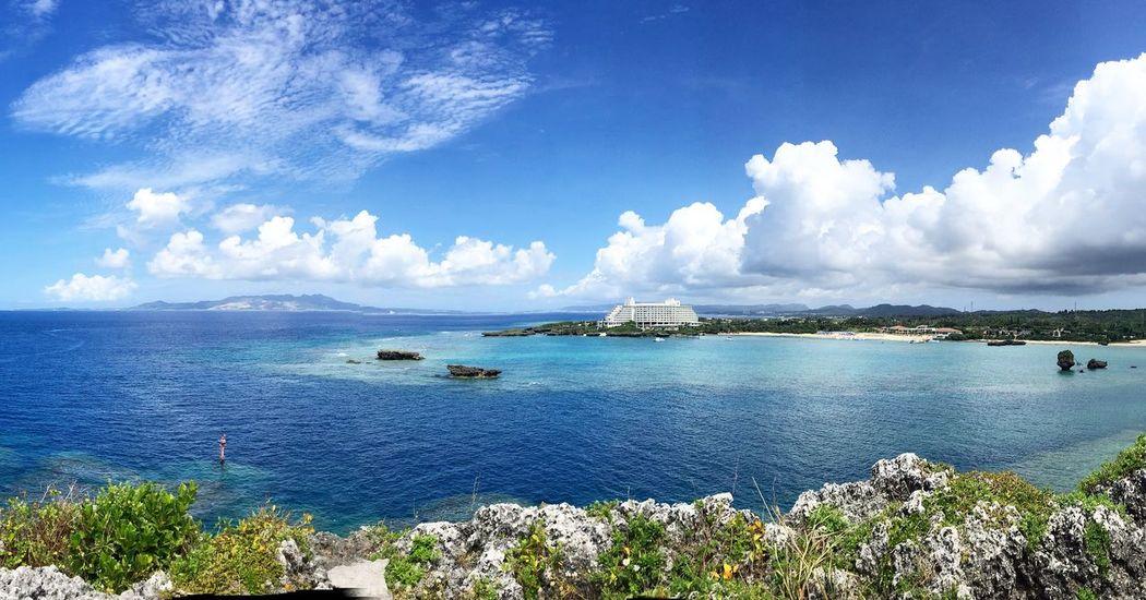 오키나와 만좌모 Sea Blue Sky Beauty In Nature Nautical Vessel Outdoors Nature Cloud - Sky Okinawa Manjamo Leicacamera Leica Huawei P9 오키나와 여행 Travel Journey First Eyeem Photo
