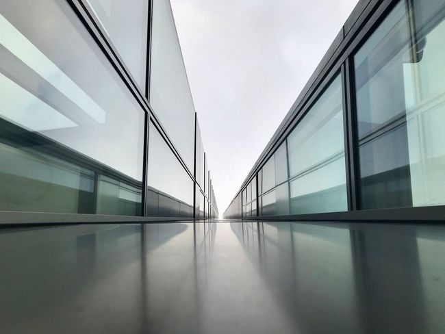 Architecture Building Building Exterior Built Structure City Connection Day Glass - Material Modern Nature No People Office Office Building Exterior Outdoors Reflection Sky Transparent Transportation Wall - Building Feature Window