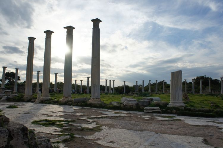 salamis ruins Greek Architecture Turkey Statue Cyprus History Sky The Past Ancient Memorial Cloud - Sky Travel Destinations Monument Old Ruin Nature