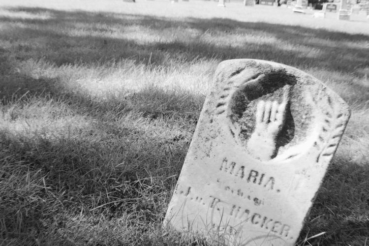 Black And White Cemetery Btw Graveyard Crooked Headstone Focus On Foreground Hand Gestures Headstone One Way Sign Pointing Tilted Tilted Image Weathered