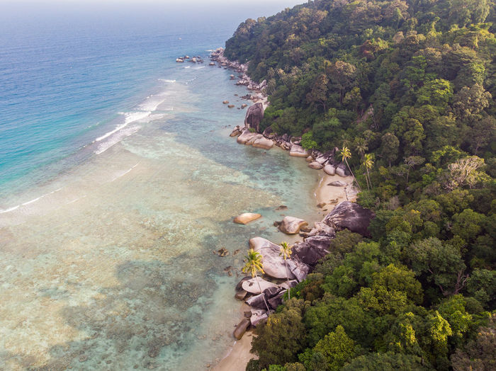 ASIA Perhentian Island Beach Beauty In Nature Day High Angle View Holiday Idyllic Island Land Malaysia Nature No People Outdoors Plant Scenics - Nature Sea Swimming Pool Terengganu Tranquil Scene Tranquility Travel Travel Destinations Tree Water