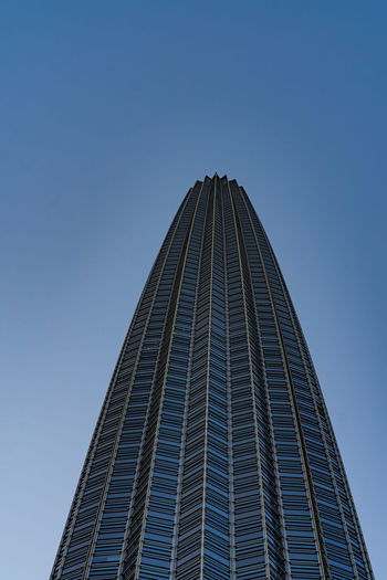 Architecture Built Structure Building Exterior Sky Office Building Exterior Tall - High Skyscraper Office Low Angle View Clear Sky Building City Modern Tower No People Nature Day Blue Copy Space Travel Destinations Outdoors