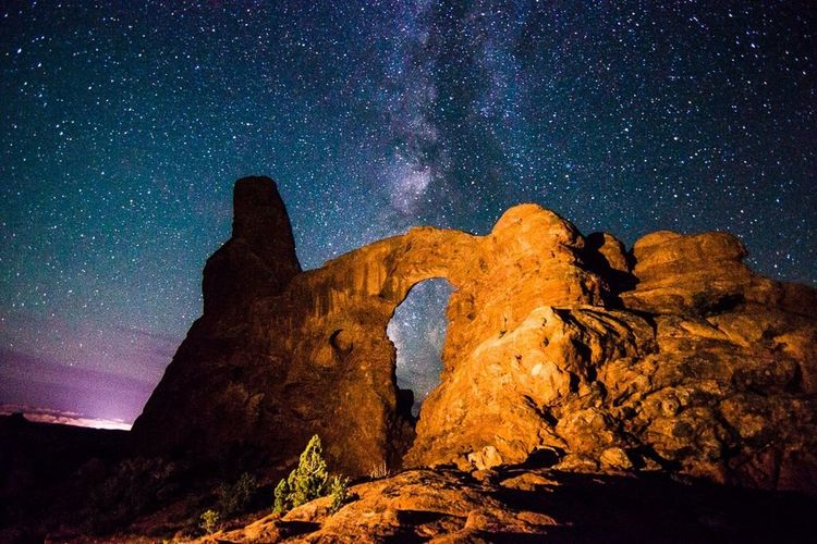 Traveling , Milky Way Astrophotography Arches National Park, Utah Sandstone Arch Under The Milky Way The Milky Way Stars