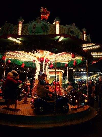 Amusement Park Celebration Carousel Parents ❤❤❤ Christmas Lights Christmas Winter Arts Culture And Entertainment Aschaffenburg GERMANY🇩🇪DEUTSCHERLAND@ Cold Winter ❄⛄ Fun Night Christmas Decoration Adult Multi Colored Warm Clothing Family Time EyeEmNewHere