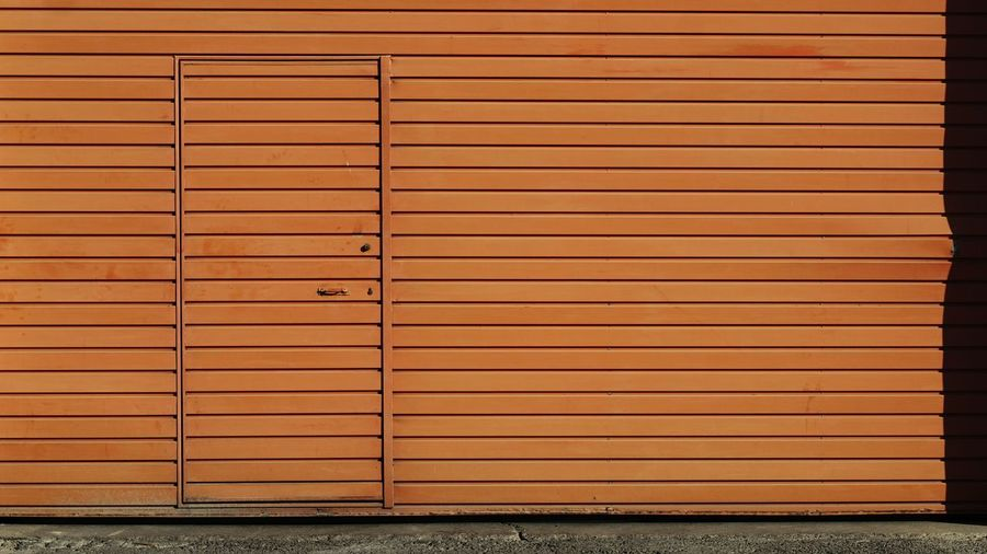 Closed shutter of wall