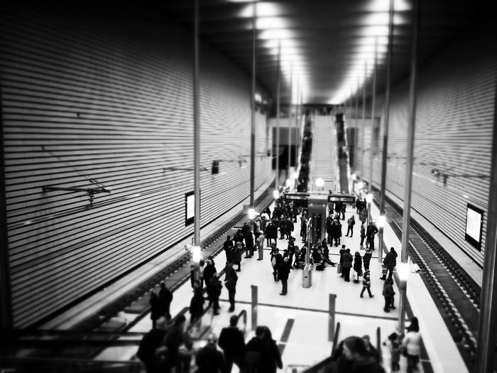S-Bahn Markt Public Transportation Blackandwhite