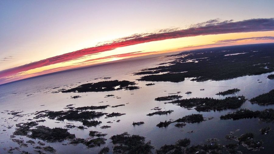 Drone shot of Pointe Au Baril from 1,500 feet