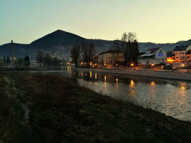 Pyramide of Sun and town of Visoko at dusk, what a photo opportunity :) Taken with Huawei P9 Leica :) Illuminated Night Water No People Outdoors Tree Bridge - Man Made Structure Sky Bosnia And Herzegovina Pyramid Piramide Visoko Visoko Pyramid's Old Town Bosniaandherzegovina Reflection Reflections In The Water Huaweip9photos HuaweiP9shots Huawei P9 Leica Leicacamera Leica Dual Camera Leicaphotography