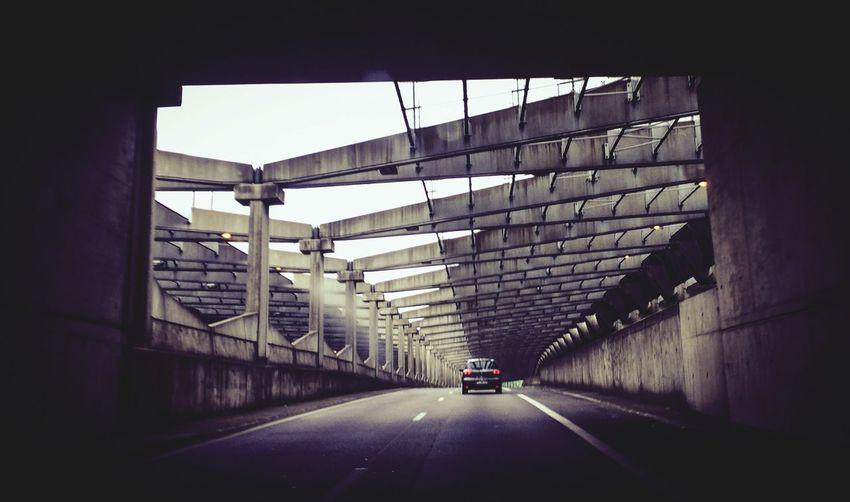 Public Transportation Taking Photos Tunnel Car