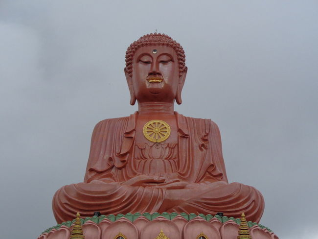 Buddha Statue Architecture Art And Craft Belief Craft Creativity Human Representation Idol Low Angle View Male Likeness No People Place Of Worship Religion Representation Sculpture Sky Spirituality Statue Tumpat EyeEmNewHere My Best Travel Photo