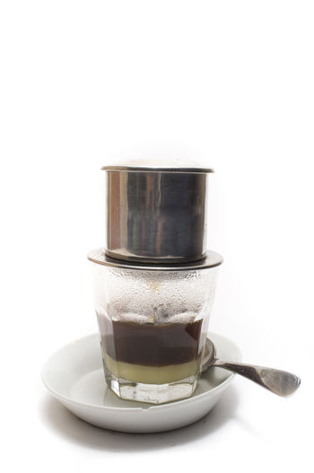 Studio Shot Of Coffee Drink On White Background