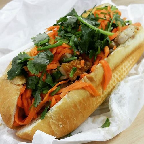 Delicious quick lunch - Roast pork Bahn Mi Tinh (Traditional Vietnamese Roll). Vietnamese Cityprovisions Roastpork Traditionalvietnameseroll foodpics foodblogger foodie perthfood perthfoodreview perthfoodadventures pertheats perthisok thefoodie thefoodiehub perthpop