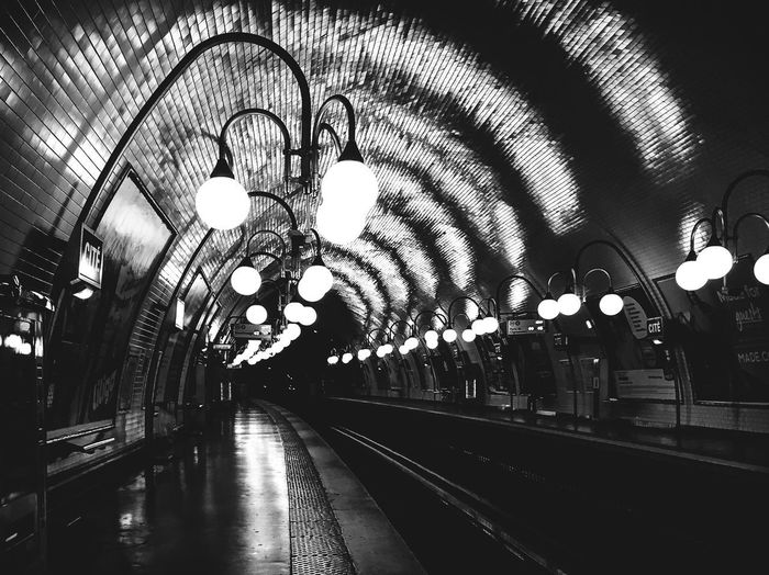 Railroad Station Indoors  Rail Transportation Ceiling Railroad Station Platform Transportation Train - Vehicle Railroad Track Illuminated Public Transportation No People Clock Day The Week On EyeEm From My Point Of View EyeEm Best Shots