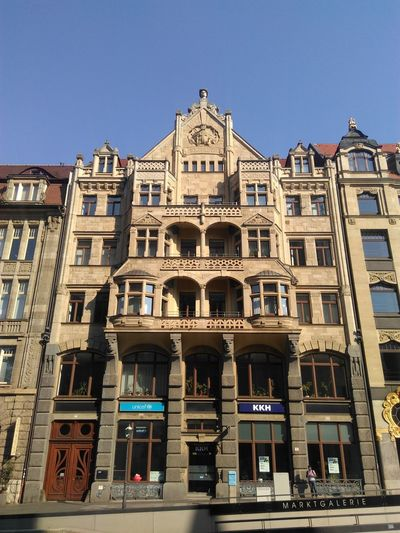Building Exterior Architecture Built Structure Low Angle View Leipzig Germany Sachsen