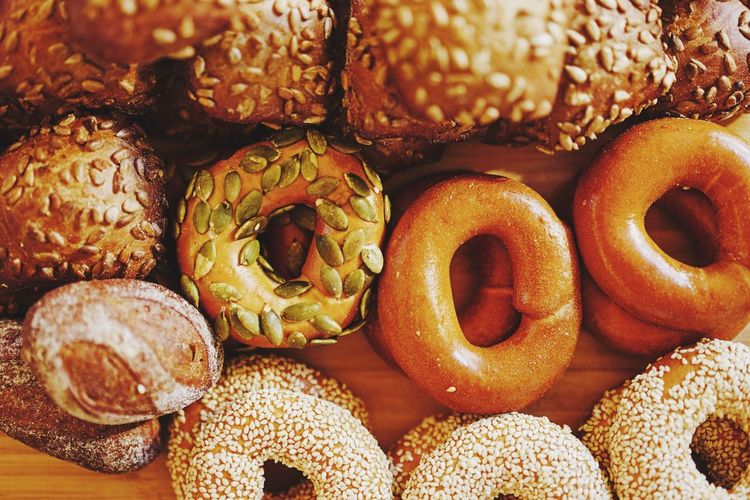 Close-Up Of Donuts On Table