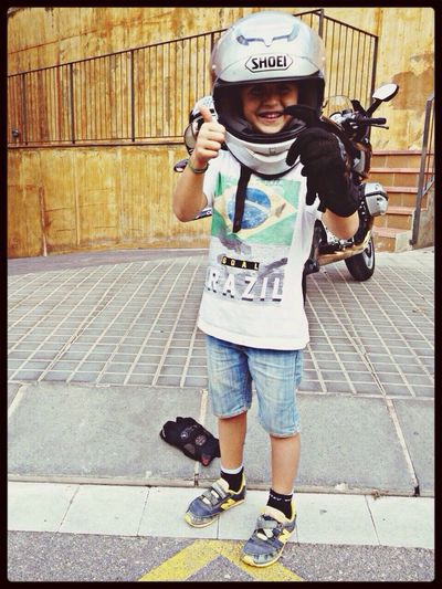 "Mi pequeño...""Rossi""!! Lo Que Mas Quiero!! Authentic Moments Bike Love"
