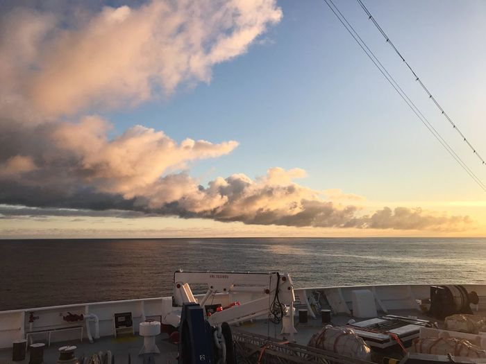 Holiday Sky Sea Water Cloud - Sky Ship Sunrise Beauty In Nature Cruise Travel Cruise Ship Travel Photography Landscape Morning Clouds And Sky Trip Traveling