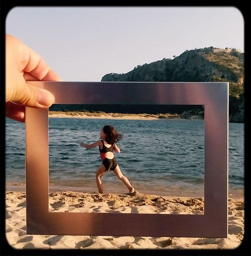 Summer Views Voidokoilia_beach Peloponisos Voidokoilia Holiday Summer Greece Vaccation Kids Frame