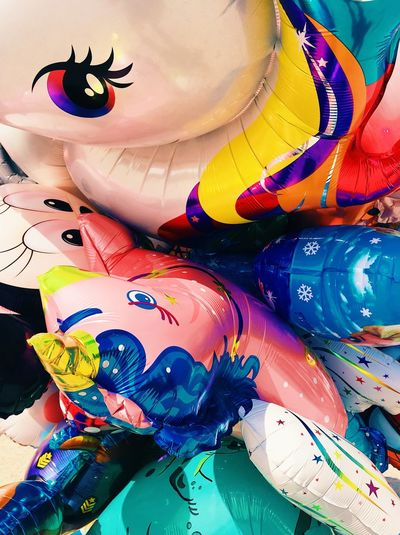 Balloon Multi Colored Creativity Art And Craft Indoors  Paint Craft No People Vibrant Color Close-up