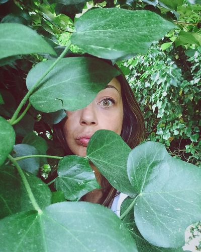 Leaf Only Women Plant Green Color Jealous Beauty One Person Looking Adults Only Women Beautiful Woman One Young Woman Only Adult Close-up Ivy Young Adult Nature Ivy Leaves Ivy Covered Young Women Green Green Eyes Eye Spying Camuflage EyeEm Selects