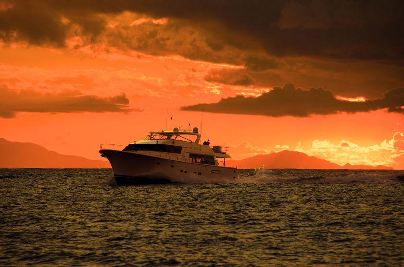 EyeEm Landscape EyeEm Best Shots Travel Travel Photography Colors Sea Sunset Boats Caribbean Silhouette