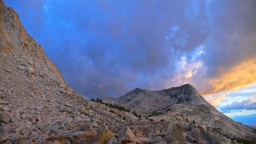Yosemite National Park Vogelsang Mountains Sierra Nevada Nature Sunset Colourful Clouds