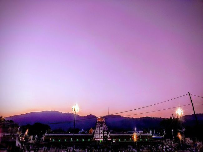 Illuminated Night Sunset Dusk Arts Culture And Entertainment Nightlife Outdoors Place Of Worship Architecture Ancient Pagoda History Scenics Pink ColorReligion Spirituality