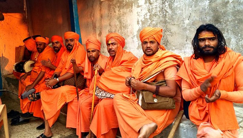 Orange Orange Color Sadhu Morning Singing Religious  Religion Check This Out Pious Hinduism Hindu Culture Winter Eye4photography  Streetphotography Asian Culture Here Belongs To Me