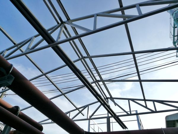 Structure Truss Building Steel Business Finance And Industry Metal Industry