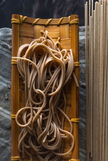 Japanese Food Japanese Culture Noodles Soba Noodles Buckwheat Noodles Close-up Day Food Instant Noodles No People Soba Still Life Studio Shot Wood - Material
