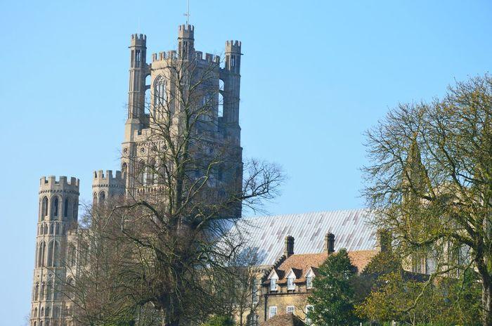 Ely Cathedral from distance Architecture Building Exterior Built Structure Cambridgeshire Cathedral Ely Fenland Fens Gothic Norman Outdoors Religious