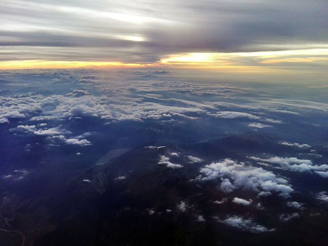 Sunset Sky Cloud Cloudporn Horizon Travel Airtravel Plane Endless Sky