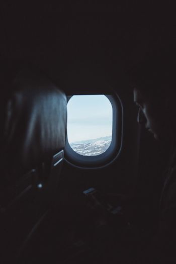 Mode Of Transportation Airplane Vehicle Interior Window Transportation Sky Air Vehicle Public Transportation Outdoors Looking Through Window Scenics - Nature Flying No People Beauty In Nature Travel Day Plane Nature Cloud - Sky Environment