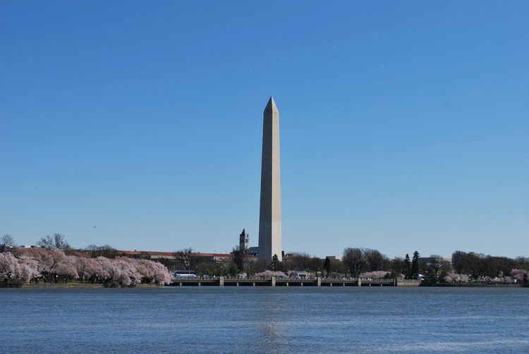 View of monument against blue sky