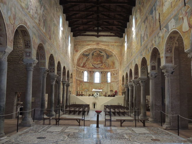 Abbazia Abbey Affreschi Aisle Altar Arch Arched Architectural Column Architecture Church Church Church Architecture Churches Flooring Giotto Hanging Light History In A Row Indoors  Interior Pew Place Of Worship Pomposa Religion Spirituality