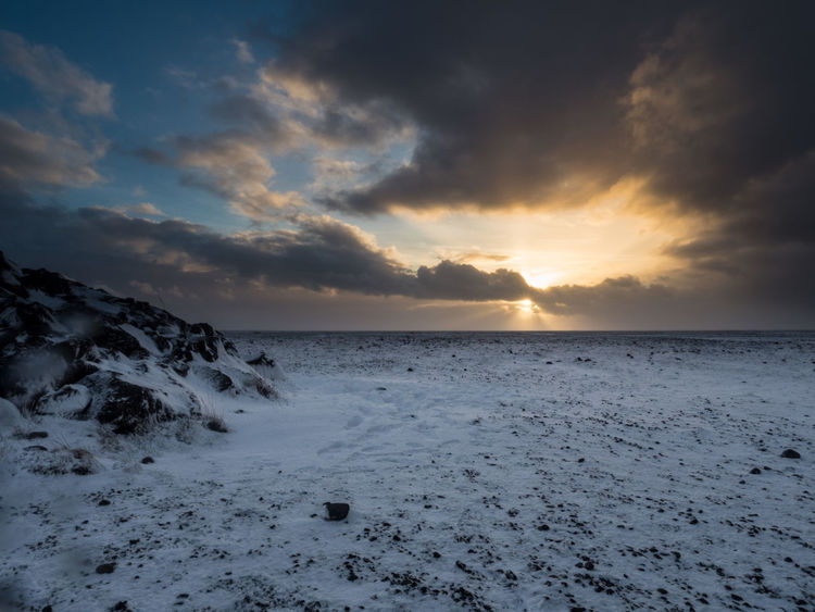 Beauty In Nature Dramatic Sky Landscape No People Scenics Snow Sunset Winter