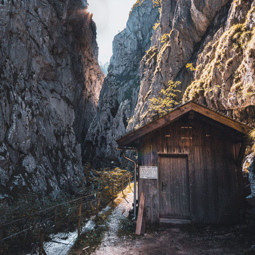 Architecture Beauty In Nature Building Building Exterior Built Structure Cabin Day Formation House Mountain Mountain Range Nature No People Non-urban Scene Outdoors Rock Rock - Object Rock Formation Scenics - Nature Solid Tranquility Wood - Material