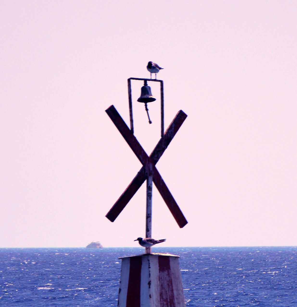 Close-Up Of Weather Vane Against Clear Sky