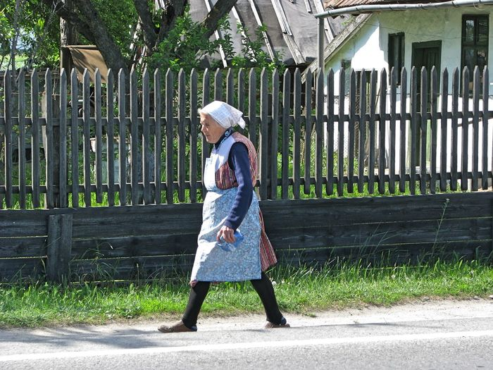 Rural Transylvania Architecture Building Exterior Built Structure Day Full Length Lifestyles One Person Outdoors People Real People Rural Scene
