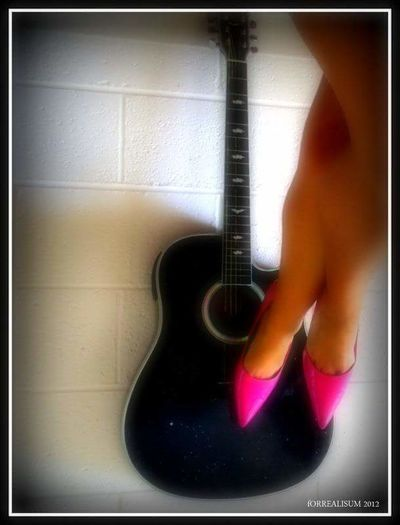Guitar Pink-N-Pumps Guitar Love Legophotography Pink Heels High Heels Legs Crossed At Knee Legs Legs Legs Guitarporn Sexylegs Pink! Backgrounds Sexyselfie Legs EyEmNewHere Human Hand Personal Perspective