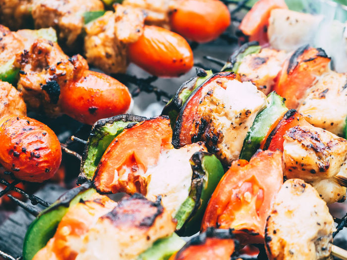 Barbecue Delicious Food Fun Enjoy Party Chicken Pork Tomato Camp Grilled Meat Fire Cooking Enjoy The New Normal