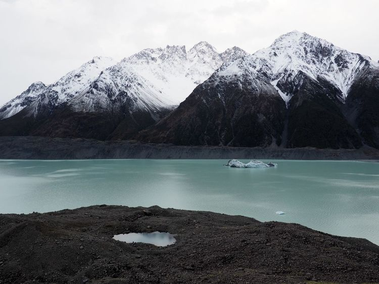Beauty In Nature Blue Lake Calm Glacier New Zealand Scenery No People Snowcapped Mountain Tasman Glacier Tranquil Scene Water