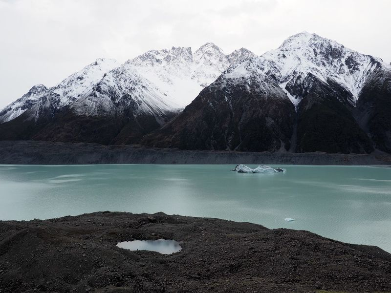 Beauty In Nature Blue Lake Calm Glacier New Zealand Scenery No People Snowcapped Mountain Tasman Glacier Tranquil Scene Water
